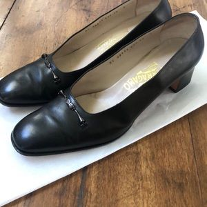 Business Casual Leather low profile heels